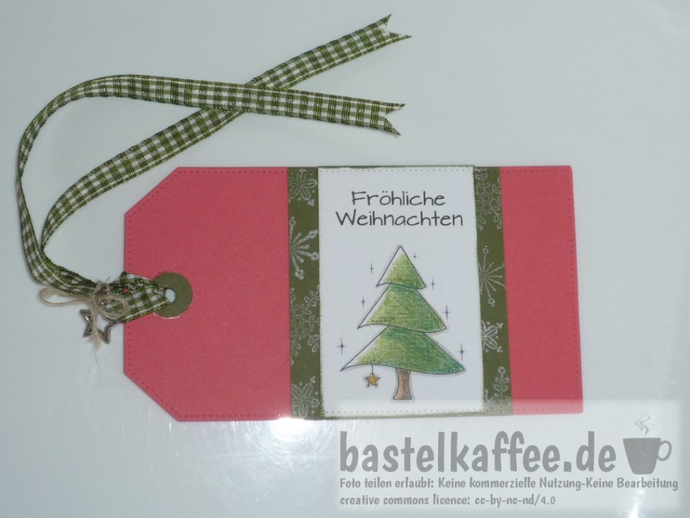 gift tag wit digital stamp christmas tree