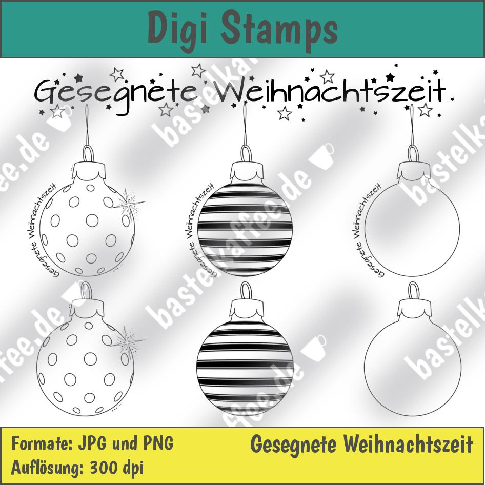 Digi Stamps Set Christmas Tree Baubles
