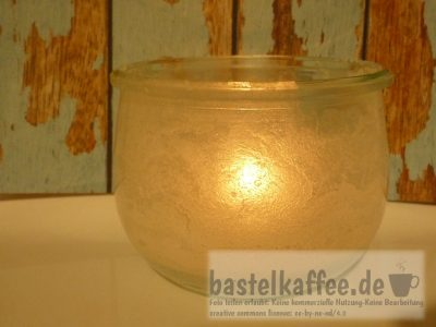 jar with salt crystals and tea candle