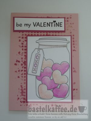 digi stamp - valentine card craft