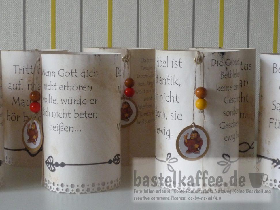 DIY Tischaufsteller mit Luther-Sprüchen