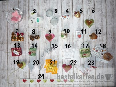 ideas how to fill a mini advent calendar