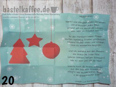 ideas how to fill a mini advent calendar