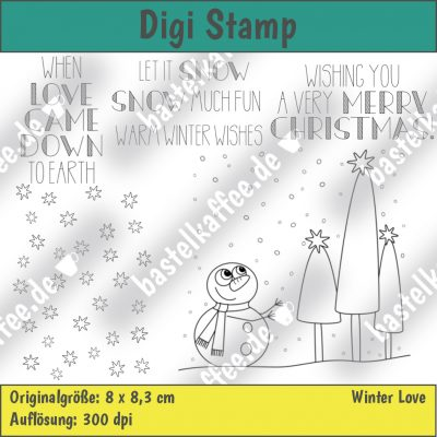 digistamps set snowman scene , merry christmas