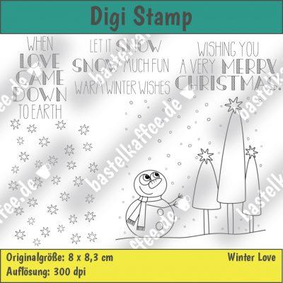 digistamps set snowman scene , merry christmas