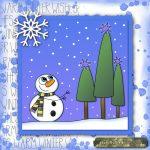 e-card snowman winter