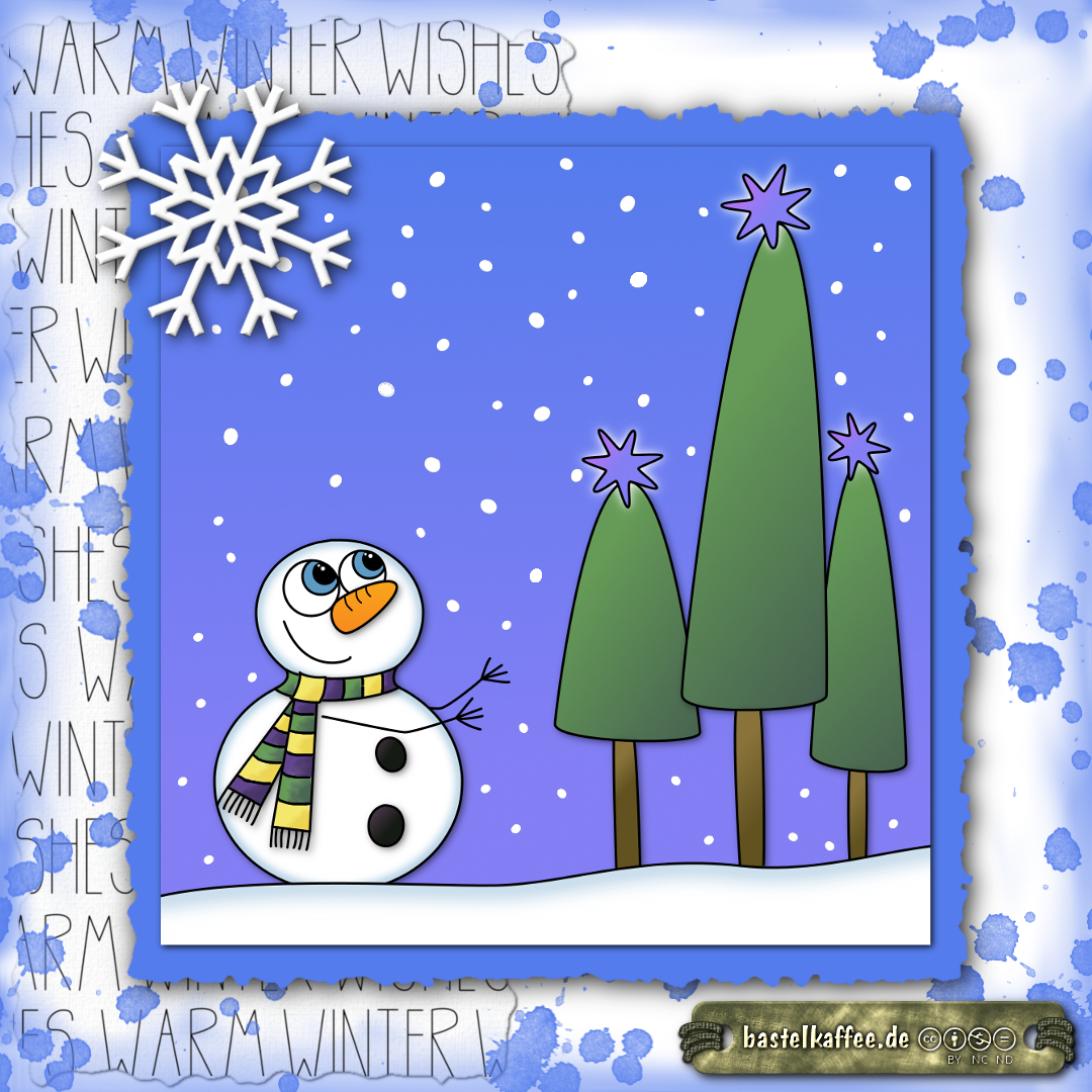 e-card snowman winter