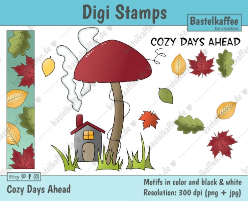 Digi Stamps Set zum Herbst.