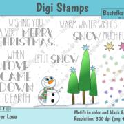 Digi Stamps Set Winter & Weihnachten, bunt