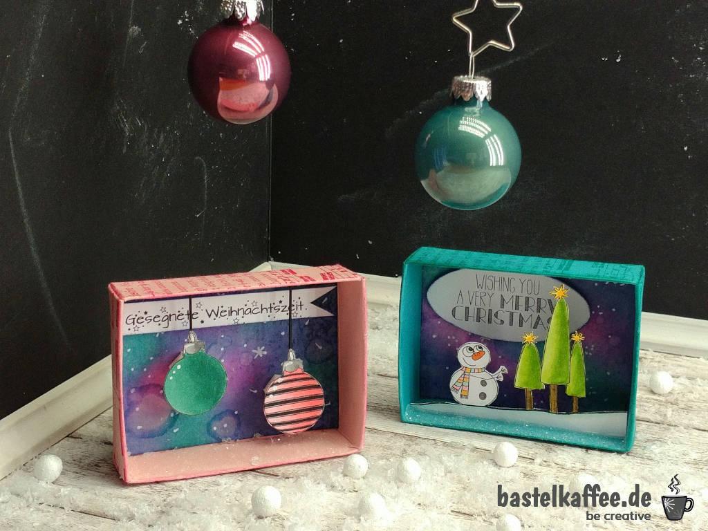 Matchbox Gruß mit Digi Stamps für Weihnachten