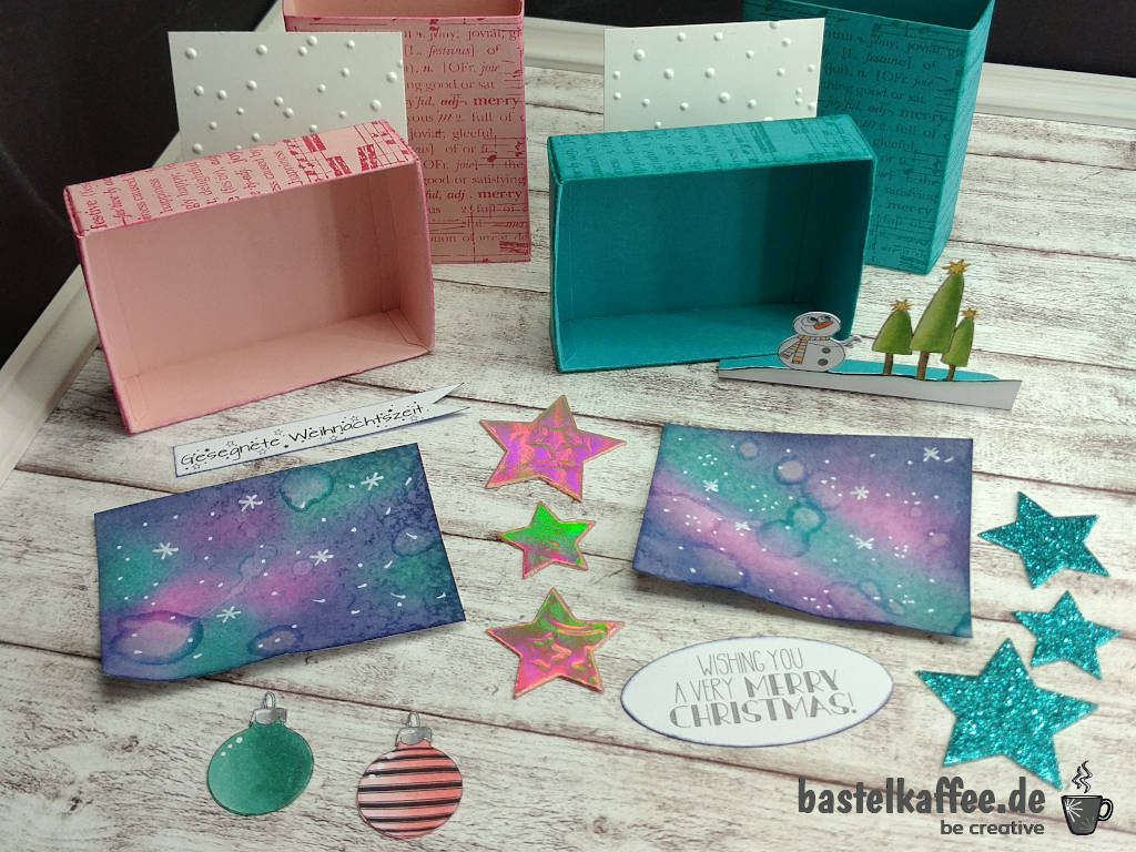 Matchbox Gruß für Weihnachten: die Einzelteile