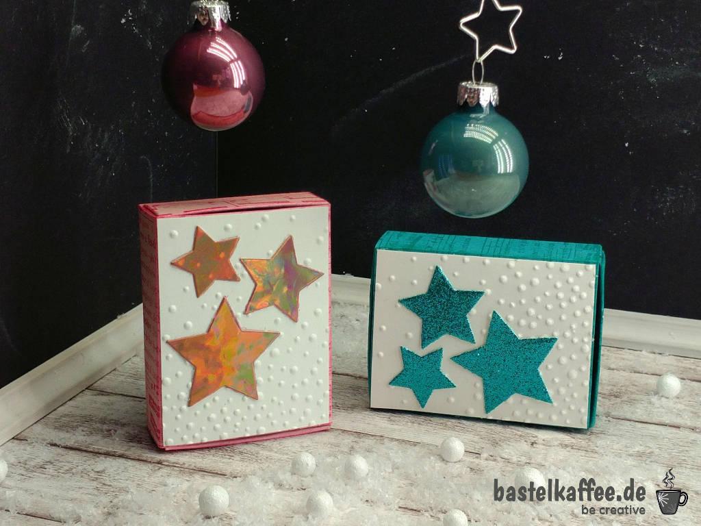Matchbox Gruß mit Sternchen für Weihnachten