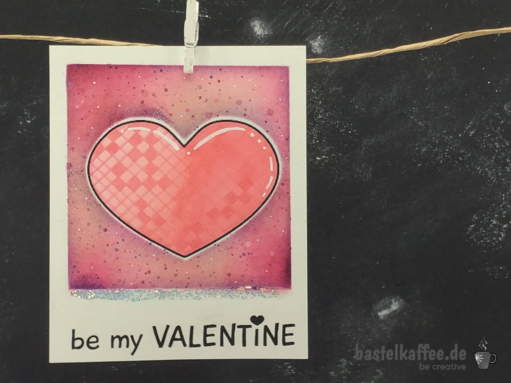 Be my Valentine Karte