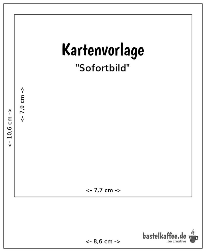 Sofortbild Kartenvorlage