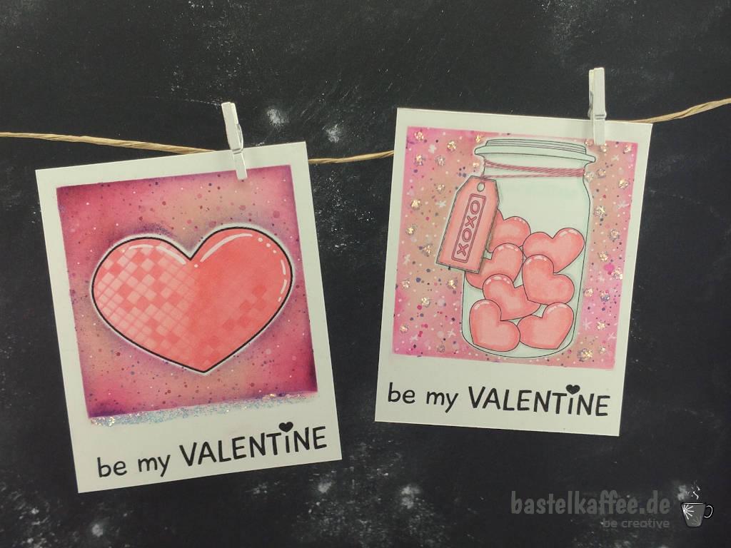 Valentinstagkarten mit Digi Stamps selber gestalten