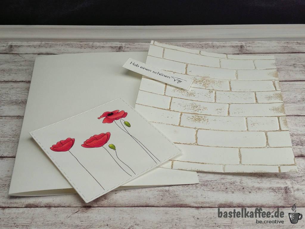Einfach mal so - Grußkarte mit Mohnblüten Digi Stamps