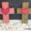 Osterkreuz Dekoration aus Tonkarton