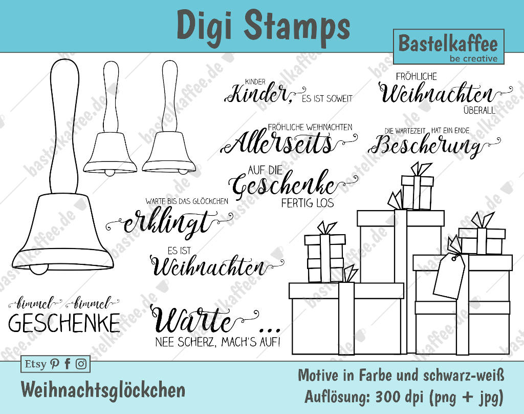digi stamps für weihnachten