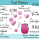 "Digi Stamps Set ""Valentine Wishes"", colored"