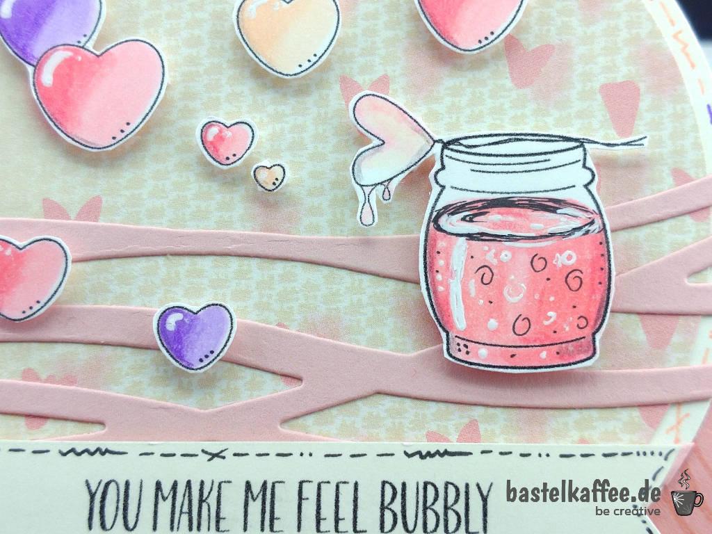 """Digitale Stempel """"Valentine Wishes"""": Seifenblasenglas und herzförmige Seifenblasen"""