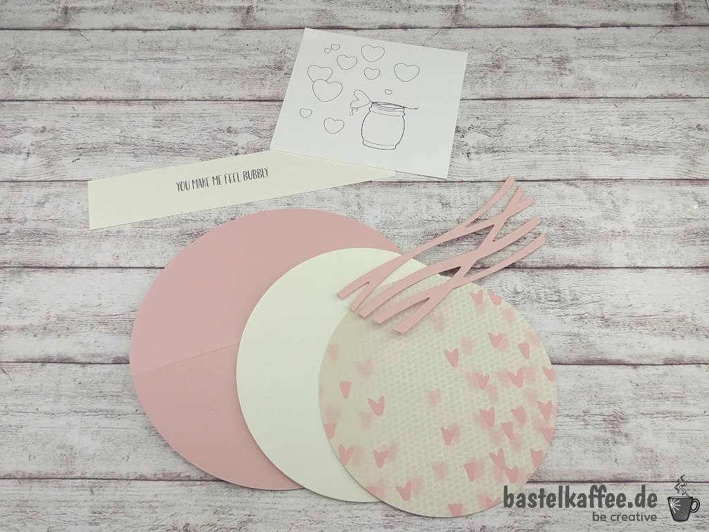 Schaukelkarte für den Valentinstag mit digitalen Stempeln basteln