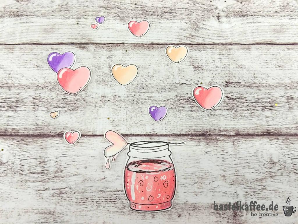 "Digitales Stempelmotiv ""Valentine Wishes"" zum Valentinstag."