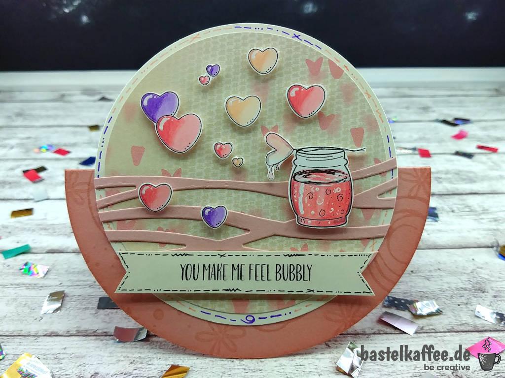 """Valentinstagskarte mit digitalen Stempeln """"Valentine Wishes"""""""