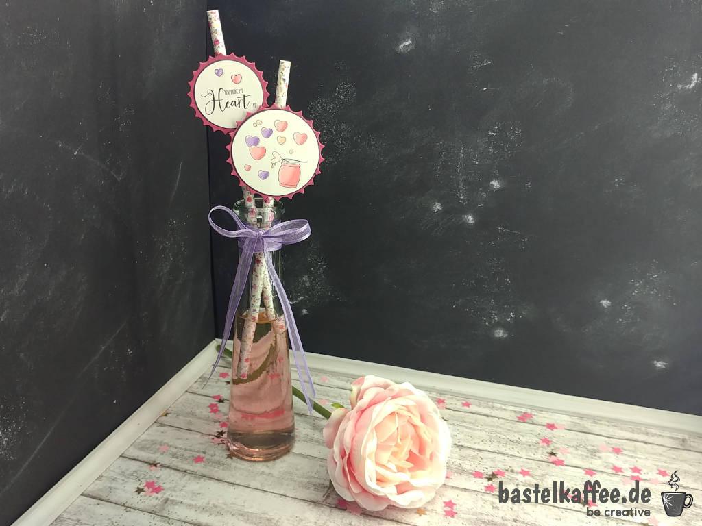 Valentine Strohhalme DIY