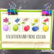 DIY Osterkarte mit digitalen Stempeln