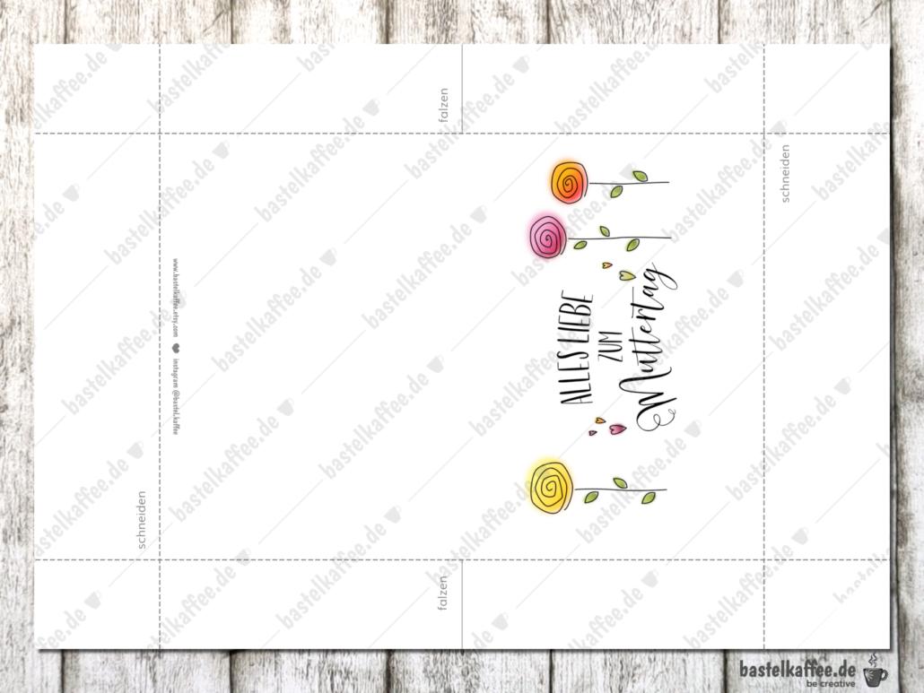 Digitale Muttertagskarte zum Ausdrucken