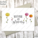 Digitale Grußkarte zum Muttertag, farbig.