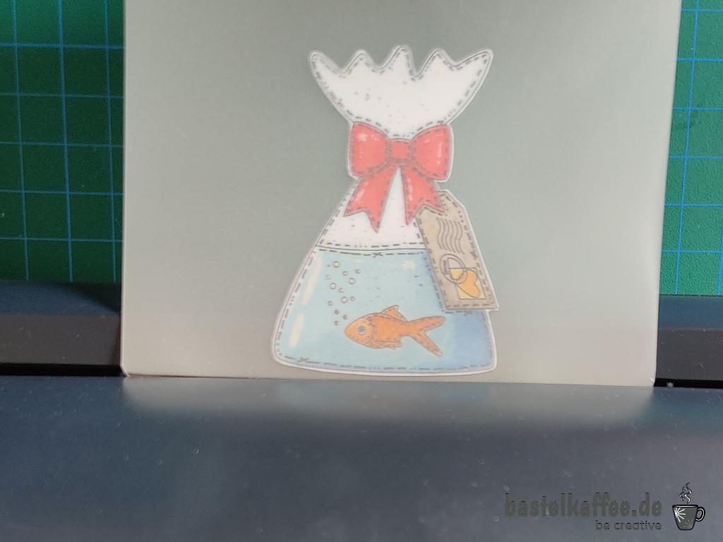 Bild laminieren für Seifenflaschen DIY